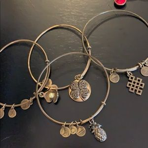 Alex and Ani Bracelets, set of 4